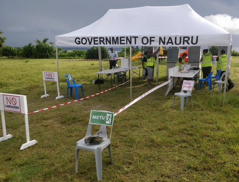 The Anabar Polling station being setup for voters